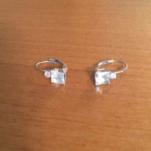 Aquamarine earrings for pierced ears